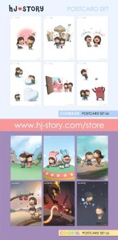 131. Sunshine Postcard Set by hjstory