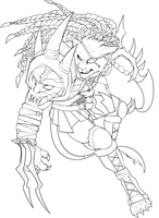 Rengar Lineart by Wicklesmack