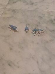 My Monster Rancher Grey Wolf Figures  by UnicornLover2500
