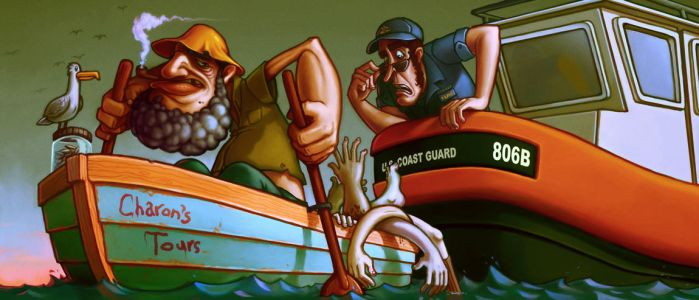 Charon and the Coast Guard by RYE-BREAD