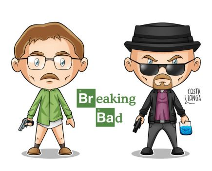 Breaking Bad Minigeeks by Costalonga