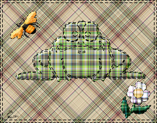 Quilted Plaid frog by Limc68
