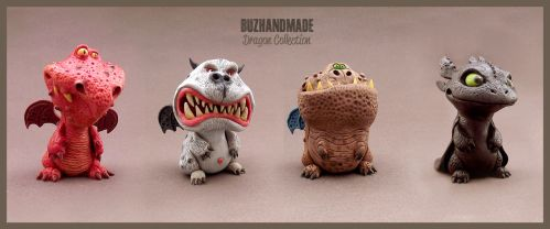 Dragons Collection 3D - BUZHANDMADE by buzhandmade