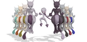 [MMD] SSB Wii U Mewtwo + DL by ShadowlesWOLF
