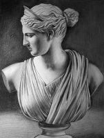 Bust of Artemis by LazzzyV