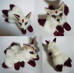 SOLD - Three tailed Gem kitsune - small floppy by CyanFox3