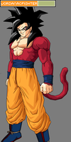SSJ4 Goku (Z Clothes) (Tenkaichi Edit) by JordanMcFighter