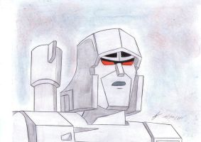 Megatron g1 first drawing by ailgara