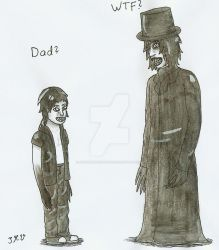 Closet Monster (child form) meets the Babadook by ImaginemonsterVi