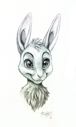 Wascally wabbit by Skeleion