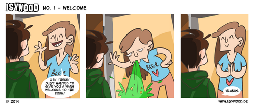 ISYWOODSTRIP No. 1 - Welcome by isagross
