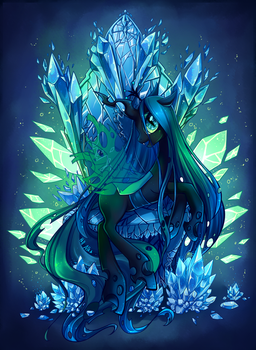 Queen Chrysalis by Hell-Alka