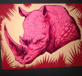 pink rhino commission by rewinde
