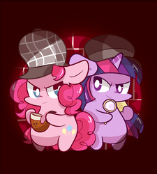 Detective pinkie pie , Assistant twilight by MACKINN7