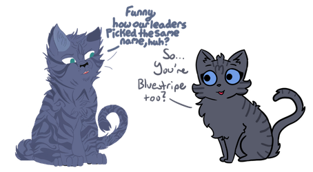 Blue Stripped (Warrior Cats Collab) by AveryCF