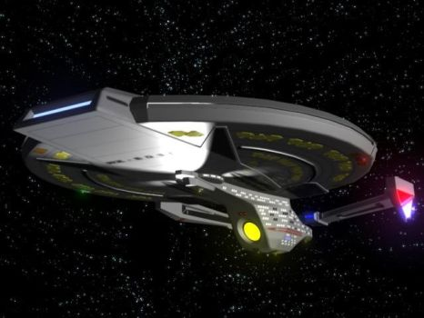 USS Titan 'Prototype' Front by thequestionmark