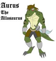 Aurus the Allosaurus by AxlReigns
