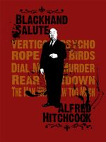 Alfred Hitchcock estampa by willblackwell