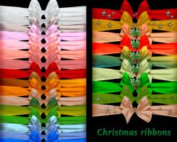 Christmas ribbons by roula33
