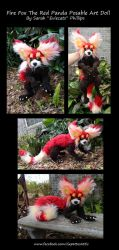 Red Panda Fire Fox Posable Art Doll by Eviecats