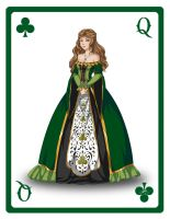 Queen of Clubs by zoeymewmew13