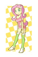 Race Queen Fluttershy original ver. by rvceric
