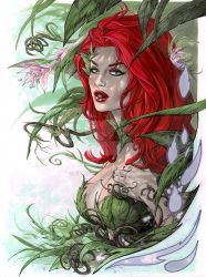 Poison Ivy bust in Copic by me eBas by ebas