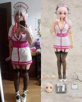 Super Sonico Nurse Cosplay Finished by LuffySwan