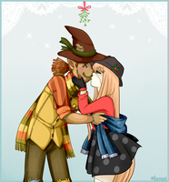 Mistletoe Meme: Huck and Daisy by HaWiFi