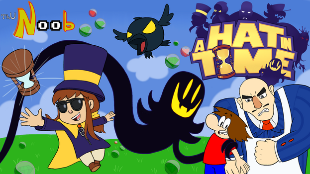 ThuN00b Title Card: A Hat in Time by funkylad