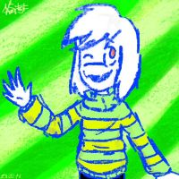 First time, when I'm drew Asriel was in February by Kristalina-Shining
