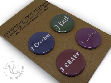 Crafty pin back button set by MermaidSoupButtons