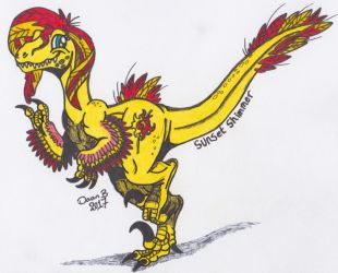 Sunset Shimmer raptor by XenoTeeth3