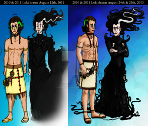 2010 and 2011 Lokis then and now by Anomalies13