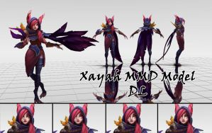 Xayah MMD Model DL by KadajoGameOver