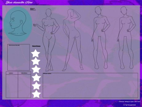 YCH Character sheet by purenightshade