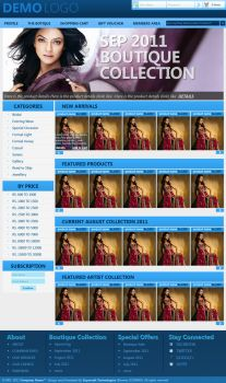 Boutique Web Layout by rameexgfx