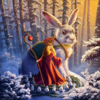 Snowberry and Hare by ldiehl