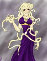 Miss Niki's Medusa by aku-the-bunnyslayer