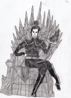 Azula on the Throne by LOrdalie