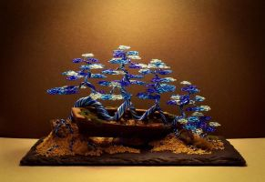 Wire Bonsai sculpture made by Steve Bowen by BowenBonsai