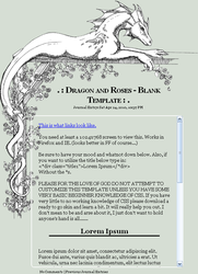 Dragon and Roses CSS Template by jennyleigh