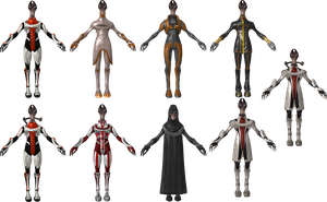 Salarian Outfit Pack by Padme4000
