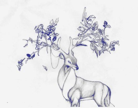 Prongs (pencil sketch) by beware-thejabberwock
