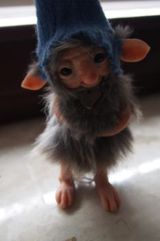 OOAK fantasy art doll little troll gnome Glo by muyestillo