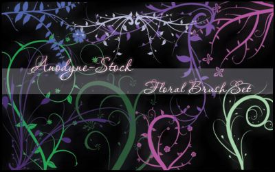 Floral Brush Set by anodyne-stock