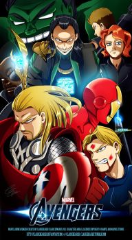 The Anime Avengers by clairebearer