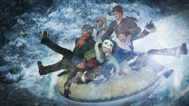 Snow tubing by Taitiii
