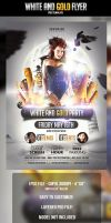 White and Gold Flyer Template by odindesign