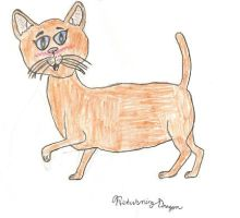 Colored Line Art Cat by ReturningDragon